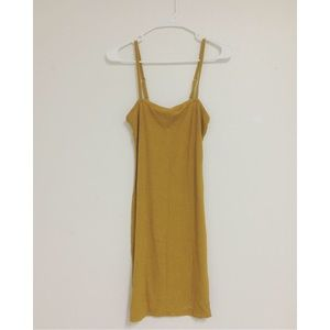 Mustard yellow fitted dress